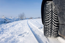 Tires in snow